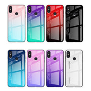 Luxury Aurora Gradient Color Case For Xiaomi Mi Mix 3 Glossy 9H Tempered Glass TPU Silicon Frame Case For Xiaomi Mix 2 2S Cases