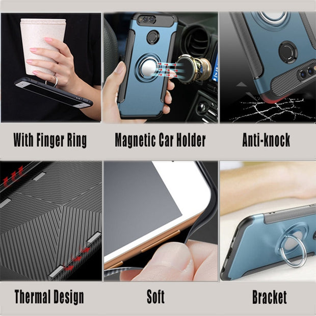 Luxury Brand Original Shockproof Armor Cover For Xiaomi Mi Mix 2S Case Silicone TPU+PC Hard Hybrid Back Cover On Mi Mix 2S 2 S