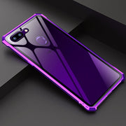 Luxury Clear 9H Tempered Glass Case For OPPO R15 Pro R15 Case Shockproof Hard Metal Frame Bumper For Coque Oppo R15 Dream Case