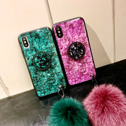 Luxury Diamond Marble Glitter Silicon Phone Case For Samsung Galaxy S8 S8PLUS S9 S9PLUS Note8 Note9 Holder Ring Cover