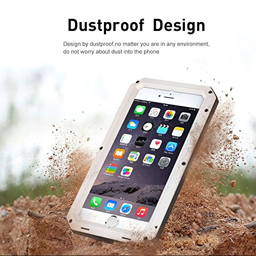 Luxury Doom Armor Dirt Shock Waterproof Metal Aluminum Phone Bags Case For Iphone 7 5S 6 6S 8Plus XS MAX XR Cover+Tempered Glass