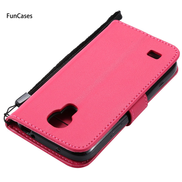 Luxury Flip Phone Case SFor Coque Samsung S4 Mini Bracket Case Telefoan Marble Holsters Clips Case For Samsung Galaxy I9190 Phon