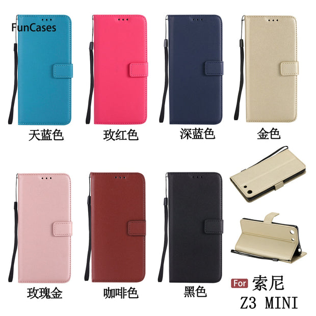 Luxury Flip Phone Case SFor Etui Sony Z3 Compact Soft TPU Back Cover Cellphone Metallic Cellphone Case For Sony Xperia Z3 Mini