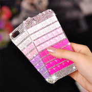 Luxury Gradient Pink Purple Bling Diamond DIY Crystal Cases For Huawei P9 P8 Lite 2017 P10 P20 Lite Pro Crystal Fundas Coque