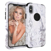 Luxury Granite Marble Contrast Colorful PC Hard Cover Case For IPhone XS MAX 6.5 #1122