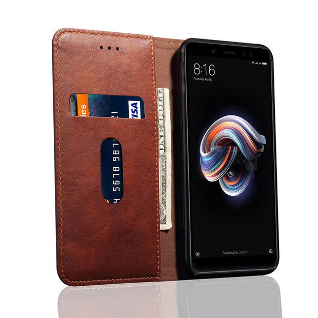 Luxury Leather Case For Xiaomi Redmi Note 5 Case Flip Wallet Magnetic Phone Cases For Xiaomi Redmi Note 5 Pro Case Cover