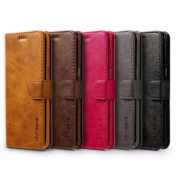 Luxury Leather Flip Case For Samsung Galaxy S8 S8 Plus Shockproof Wallet Cover Cases For Galaxy S8 Card Holder For Samsung S8+