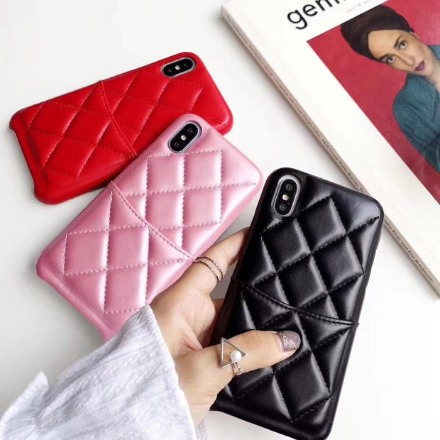 Luxury Leather Phone Case For IPhone X 6 XS 6S 8 XR XS MAX 7 Case Hard Case With Card Holder For IPhone 6 7 6S 8 Plus Cover