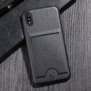 Luxury Lichee Pattern PU Leather Cover Case For IPhone X 8 7 Plus Case Card Slot Protective Back Cover For IPhone 7 8 X Case