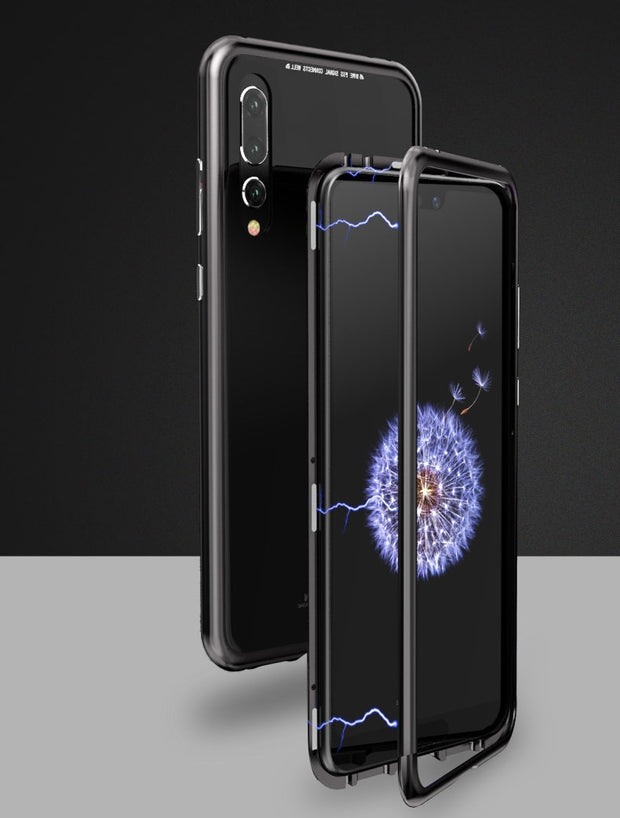 Luxury Magnet Adsorption Case For Huawei P20 / P20 Pro Case Magnetic Transparent Clear Cover Case For Huawei P20 Coque