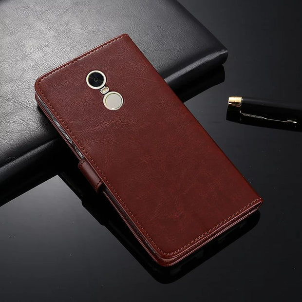 Luxury PU Leather Case Flip Back Cover For Xiaomi Mi5X A1 Mi6 Redmi 5 5A 5 Plus Note 4X Note 4 Global 4 Pro Prime 4A 5C MAX2