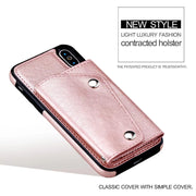 Luxury Phone Bag For IPhone X 6 6s Plus Case Cards Slots Wallet Handbag Flip Cover For IPhone 7 8 Plus Stand Leather+TPU Fundas