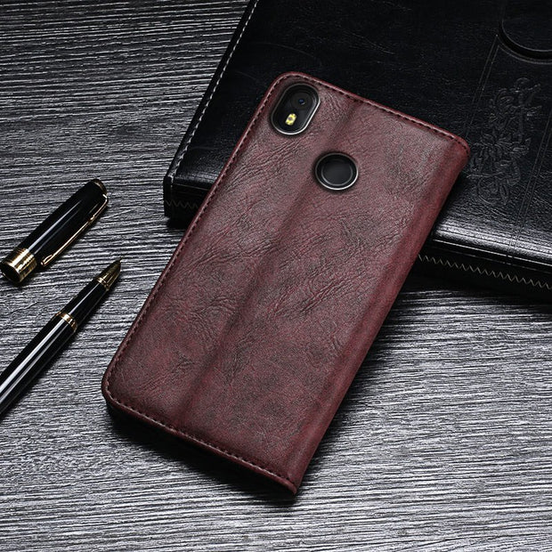 Luxury Retro PU Leather Case For Infinix Hot S3 X573 Card Holder Phone  Wallet Cover For Coque VInfinix Hot S3 Case Fundas 5 65