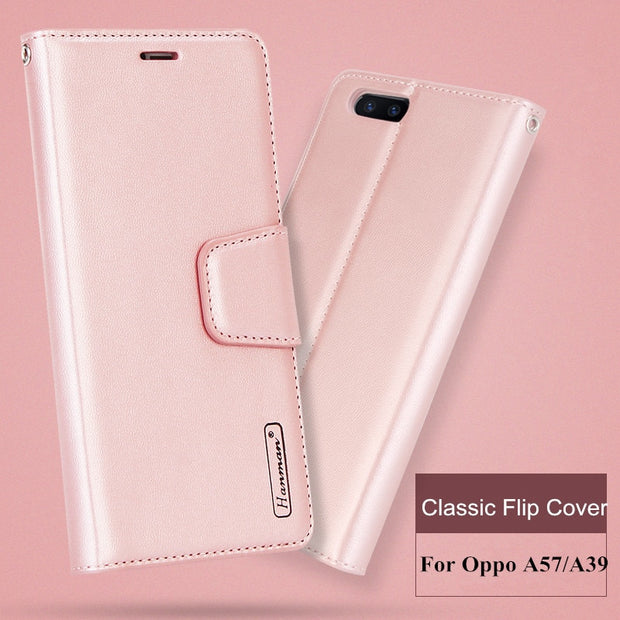 official photos 81f93 02a30 Luxury Sheepskin Leather Back Cover For Oppo A57 Case A39 Soft TPU Flip  Cover Wallet Design Phone Case