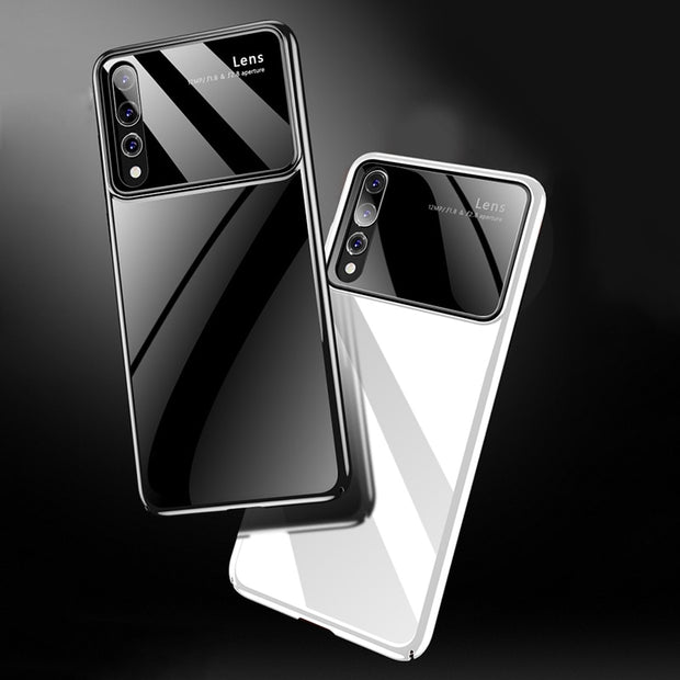 Luxury Tempered Glass Phone Case For Huawei P20 P20 Pro Hard PC Full Protective Matte Cover For Huawei P20 Lite Nova 3E Case