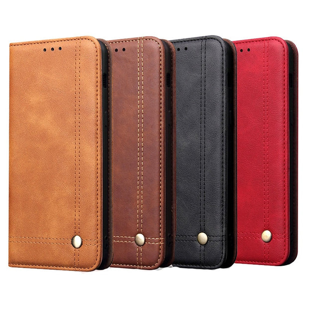 Luxury Vintage Leather Case For Oneplus 6T 1+6T Automatic Magnetic Flip Case For One Plus 6T 6 T Oneplus6T Cover Fundas Bags