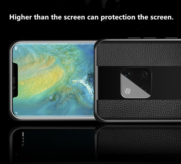 Luxury Black Plexiglass Leather Tpu Phone Case For HUAWEI Mate 20 Pro Mate 20 Lite 20 X Case Cover For Mate20 10 9 20x 20Pro RS