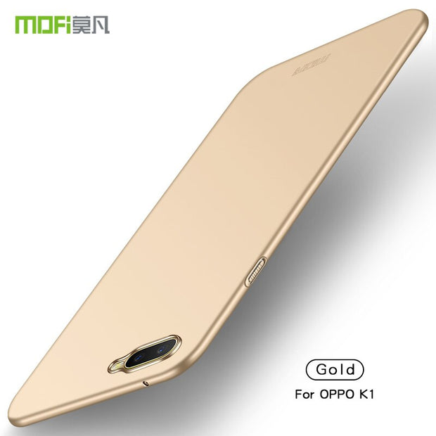 Luxury For OPPO K1 MOFi Thin Hard PC Case For Oppo K1 Back Cover Solid Color Protective Shell Skin Phone Cases