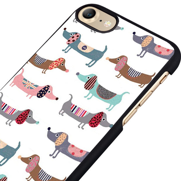 LvheCn Phone Case Cover Fit For IPhone 4 4s 5 5s 5c SE 6 6s 7 8 Plus X Ipod Touch 4 5 6 Sausage Dog Dachshund Beautiful