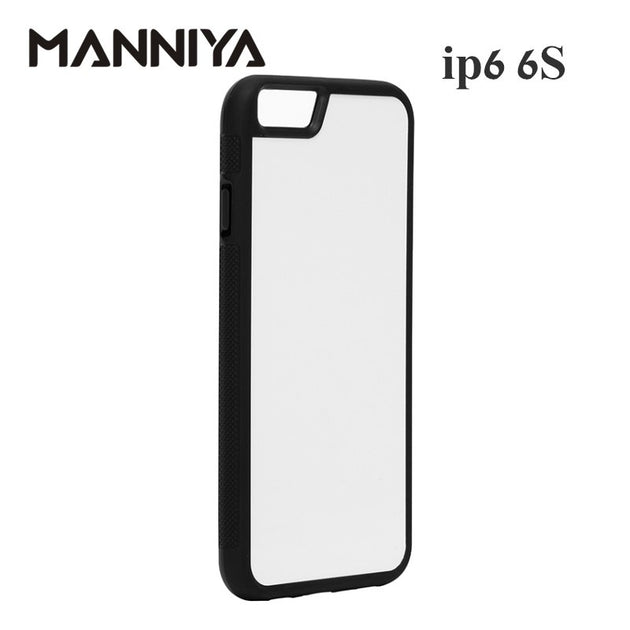huge discount b66c5 36a48 MANNIYA For Iphone 6 6s Blank 2D Sublimation TPU+PC Rubber Case With  Aluminum Inserts And Tape 10pcs/lot