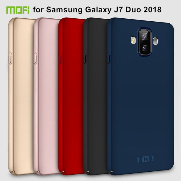 MOFi Hard PC Back Cover Case For Samsung Galaxy J7 Duo 2018 J720 (5.5 Inch) Phone Cases Shell Cover For Galaxy J7 Duo Case Capa