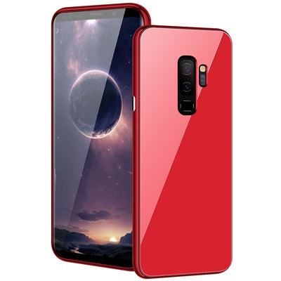 Magnetic Adsorption Flip Case For Samsung Galaxy S9 Plus S9+ Tempered Glass Cover For Samsung S9 High-end PC Bumper Glass Film
