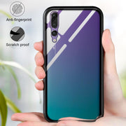 Magnetic Adsorption Metal Case Tempered Glass Back Cover For Huawei P20/P20 Pro XXM8