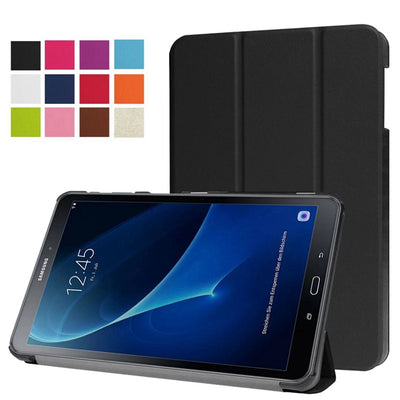 Magnetic Stand Pu Leather Cover Case For Samsung Galaxy Tab A6 10.1 2016 T585 T580 SM-T585 T580N Funda Cases + Film+stylus Pen