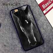 MaiYaCa Black Horse Animal Newest Soft TPU Phone Cases For Apple Iphone 6 Case 4.7'' Fashion Case For Iphone 6S 6 Cover