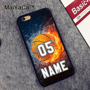 MaiYaCa PERSONALIZED NAME NUMBER BASKETBALL Soft TPU Phone Cases For Apple Iphone 6 Case 4.7'' Case For Iphone 6S 6 Cover
