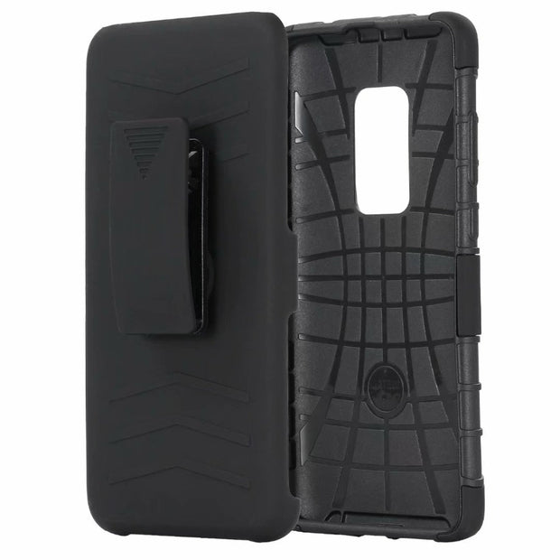 Mate 20 Tough Belt Clip Armor Shockproof Hybrid 3 In 1 PC TPU Kickstand Cover For Huawei Mate 20 Lite Mate 20 Pro Heavy Duty