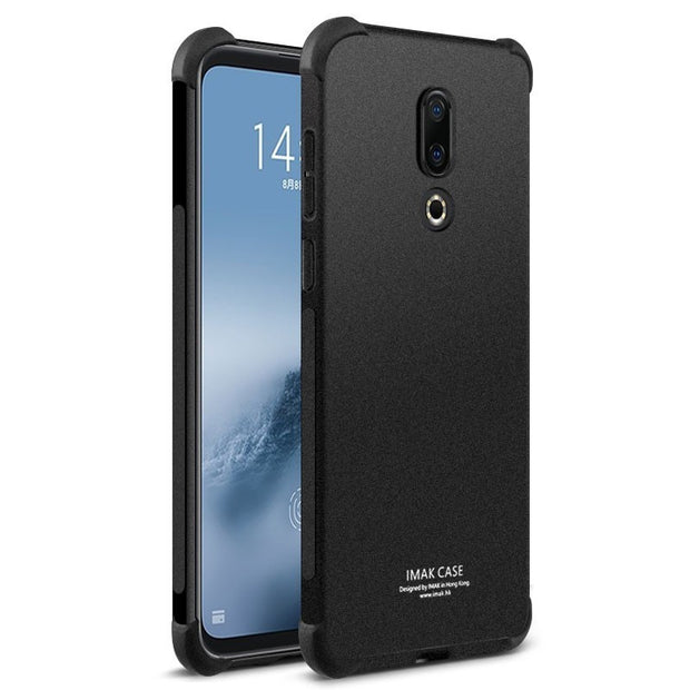 Meizu 16th Case Meizu 16th Plus Cover Silicon IMAK Airbag Conners Shockproof Soft TPU Back Cover Case For Meizu 16th+ With Film