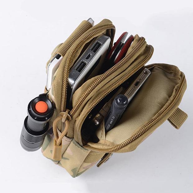 Men's Outdoor Camping Bags Tactical Molle Backpacks Pouch Belt Bag Military Waist Backpack Soft Sport Running Phone Travel Bags