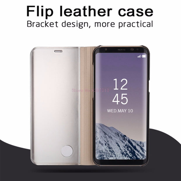 Mirror Smart Case For Galaxy S8 S8+ G950F Leather Flip Case For Samsung Galaxy S9 S9+ Stand Cover For Galaxy S9 Plus S8 Plus