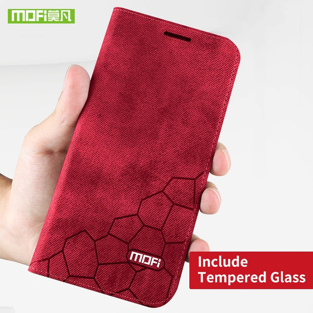 Red case and glass