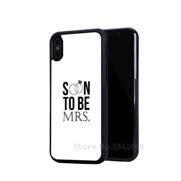 Mr And Soon To Be Mrs BFF Best Friends Love Pair Phone Cases For IPhone 5s Se 6 6s Plus 7 7plus 8 8plus X XR XS MAX Soft Cover