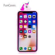Multicolor Unicorn Phone Case SFor Hoesjes IPhone X Soft Silicone Back Cover Protective Animal Phone Case For IPhone X P Hone