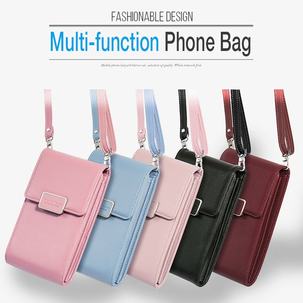 Musubo Luxury Lady Phone Bag Case For Iphone & Samsung Fashion Shoulder Bag Premium Wallet Messenger Bag Phone Bag For Xiaomi