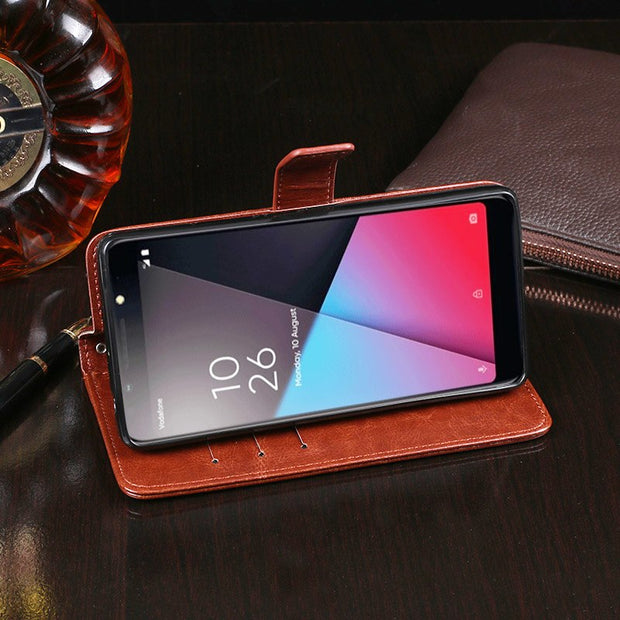 N9 Lite Case For Vodafone Smart N9 Lite Case Cover Wallet Flip Leather Pouch For Coque Vodafone Smart N9 N 9 Lite Case Cover Bag