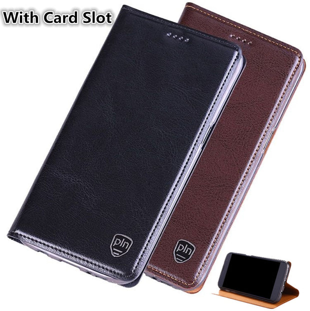 premium selection 6fc09 52e61 ND02 Genuine Leather Flip Cover For Motorola Moto G6 Plus(5.93') Cell Phone  Case For Motorola Moto G6 Plus Leather Cover