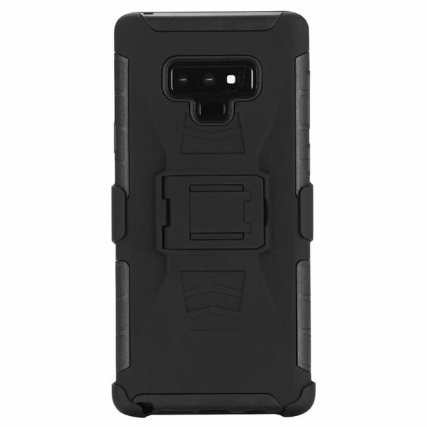 NEW For Samsung Galaxy Note 9 Note 8 S8 S9 A6 A8 2018 Plus J3 J7 2018 Clip Belt Tough Robot Shockproof 3 In 1 PC TPU Dura Case
