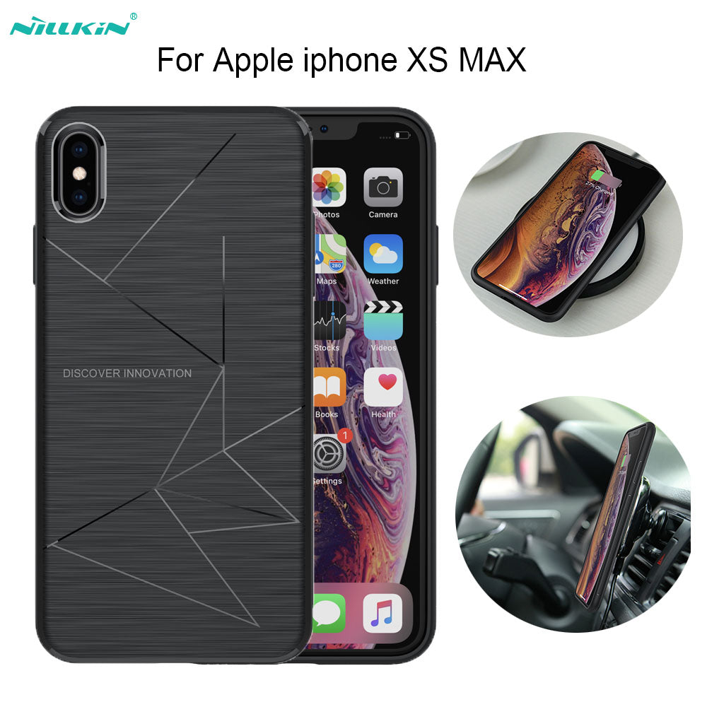 huge discount 07f62 1a4b4 NILLKIN Magic Case For Apple Iphone Xs Max Cover QI Wireless Charging  Receiver Back Cover For Iphone Xs Max Case