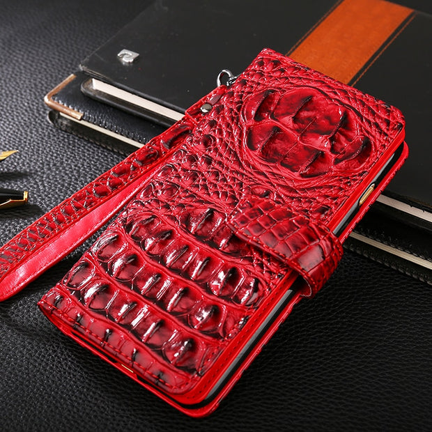 New Arrival Crocodile Patterm PU Leather Holster Wallet Flip Case For Motorola Moto C Plus Phone Shell Capa