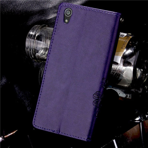 New Arrived Cartoon Wallet PU Leather Phone Case For Sony Xperia Z5 Dual E6603 E6653 E6633 E6683 Protective Case Flip Back Cover