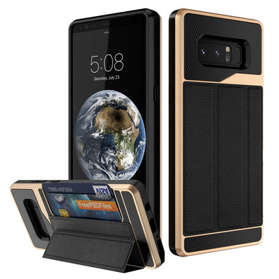 New Design Kickstand And Card Holder Function Case For Samsung Galaxy Note 8 Hard Protective Covers For Mobile Phone