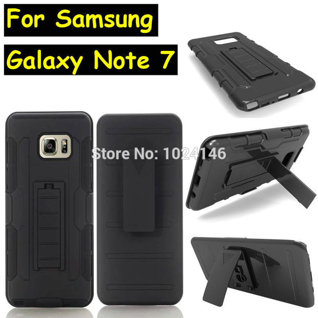 New Future Armor Heavy Duty Rugged Belt Clip Defender Stand Case For  Samsung Galaxy Note 7 N9300 Note 6 With Kickstand Cover