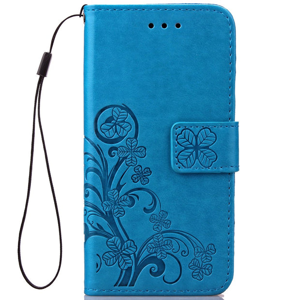 New High Quality Multi Colors Luxury PU Leather Phone Case Cover For Sony Z2 Z3 Z4 Z5 MINI Book Style Wallet Clover Phone Case