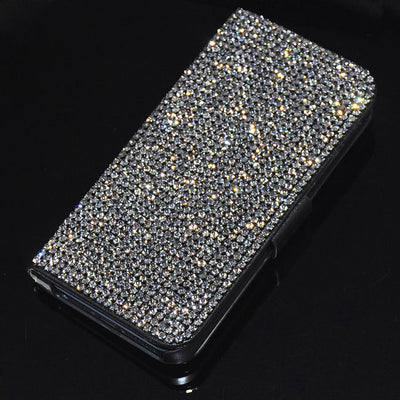 New Luxury Bling Rhinestone Diamond For IPhone 7 7plus 6 6s Plus 5.5 Inch 5g 5S SE Flip Wallet Leather Case Cover Phone Cases