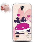 New Skin Soft TPU Silicone Case For Huawei Y5 Case For Y5 Huawei Pink Heart Fashion Cute Pictures Custom Soft Cases