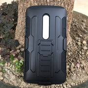 New X PLAY Future Armor Dual Impact Hybrid Robot Hard Case For MOTO X PLAY XT1561 Phone Cover Bags Cases With Belt Clip Holster